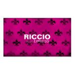 311 Fleur de Grunge Hott Pink Pack Of Standard Business Cards