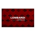 311-FLEUR DE GRUNGE RED PACK OF STANDARD BUSINESS CARDS