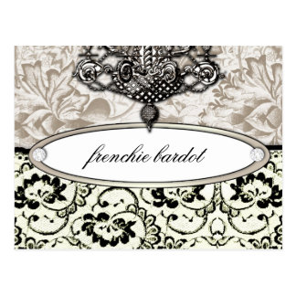 311 Frenchie Boudoir Eggshell Cream Postcard