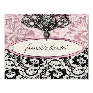 311 Frenchie Boudoir Gift Certificate Metallic 11 Cm X 14 Cm Invitation Card