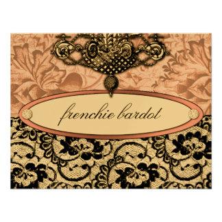 311 Frenchie Boudoir Gift Certificate Metallic Custom Announcements