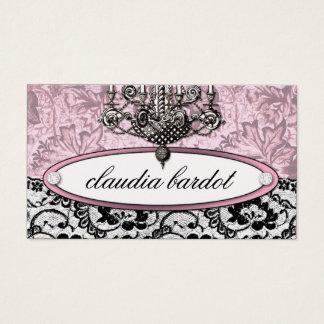 311 Frenchie Budoir | Vintage Pink Business Card