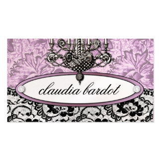 311-Frenchie Budoir Vintage Pink Business Cards