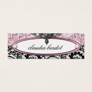 311 Frenchie Budoir   Vintage Pink Mini Business Card
