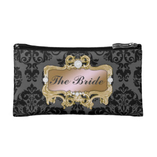 311 Glam Crazy Bride Pink Gold or DIY Clutch Cosmetic Bags