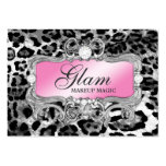311 Glam Crazy Pink Black Leopard Pack Of Chubby Business Cards