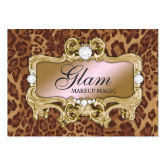 311 Glam Crazy Pink Gold Leopard Pack Of Chubby Business Cards