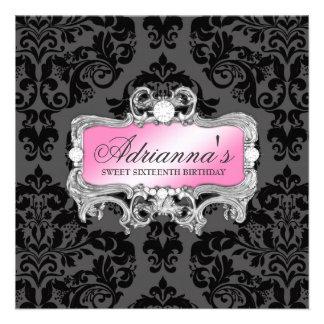 311 Glam Pink Grey Damask Diamonds Announcements