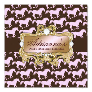 311 Glamourous Cowgirl Birthday Invitation
