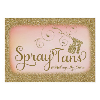 311 Glitter Spray Tan Poster A2