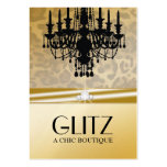 311-Glitz Boutique - Leopard Diamond Golden Pack Of Chubby Business Cards