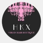 311 Glitz Boutique Pink Chandelier Round Sticker