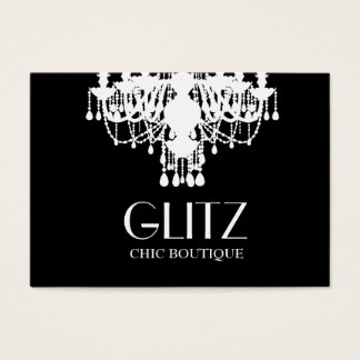311 Glitz Boutique White Chandelier Business Card