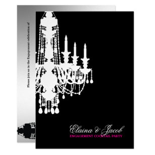 Chandelier invitations announcements zazzle 311 glitz chandelier invitation metallic silver mozeypictures Image collections