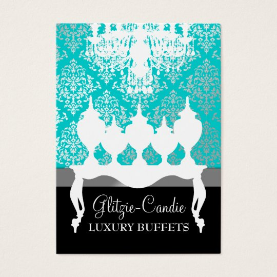 311 Glitzie Candie Turquoise & Black Business Card