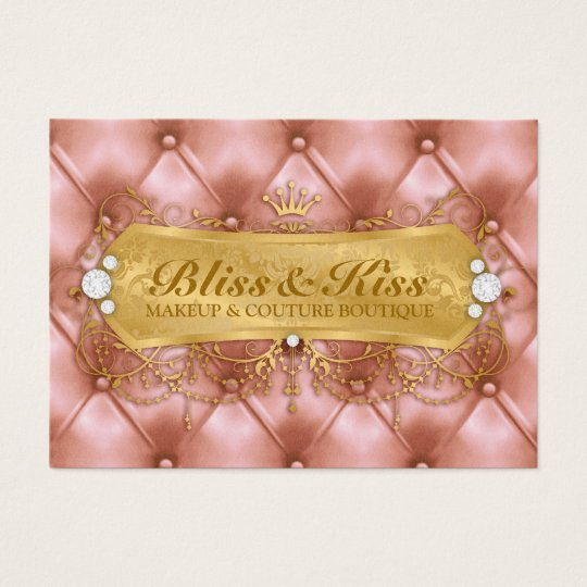 311 Golden Bliss Peach Tuft Metallic Business Card