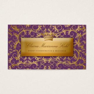 311-Golden diVine #2 Eggplant Purple Business Card