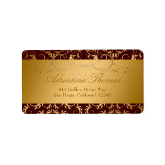311-Golden Divine Chocolate Address Label