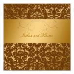 311-Golden diVine Chocolate Brown 5.25 x 5.25 Invitation