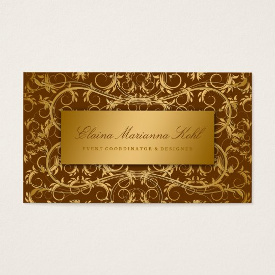311 Golden diVine Chocolate Brown Business Card