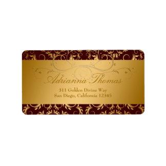 311-Golden Divine Chocolate Label