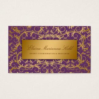 311-Golden diVine Eggplant Purple Business Card