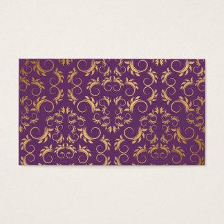 311-Golden diVine Eggplant Purple Place Card