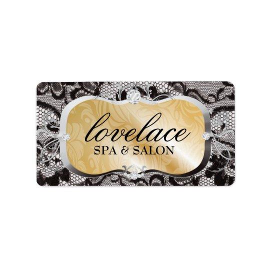 311 Golden Platter Lace Address Label