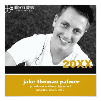 311-Graduation Announcement | Gold  Invitation