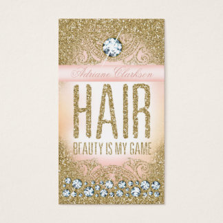 311 Hair Vintage Glam Gold Glitter Pink