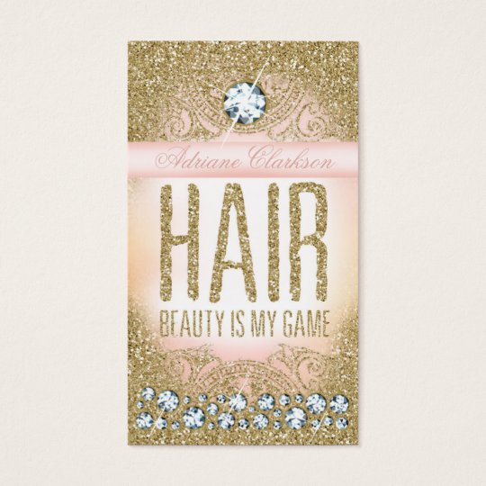 311 Hair Vintage Glam Gold Glitter Pink Business