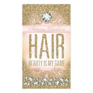 311 Hair Vintage Glam Gold Glitter Pink Pack Of Standard Business Cards