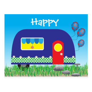311 Happy Camper Cute Cool Gifts Postcard