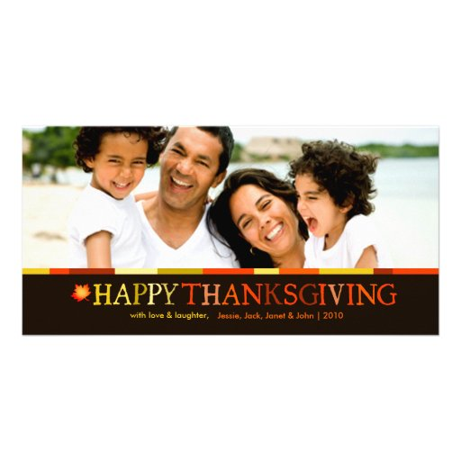 311-Happy Thanksgiving Photo Card Yellow
