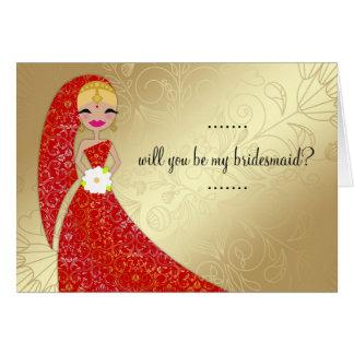 311 Henna Ornate Dress Updo Blonde Indian Card