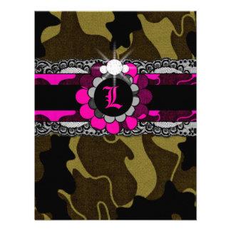 311-Hott Pink Camo Lingerie Shower Invitation