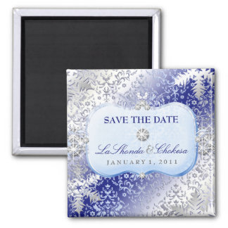 311 Ice Princess Winter Save the Date Magnet