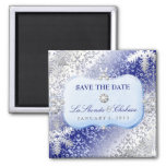 311 Ice Princess Winter Save the Date Square Magnet