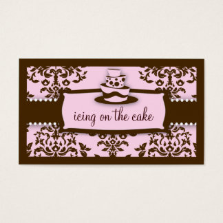 311 Icing on the Cake 3 Tier Chocolate Baby Pink Business Card