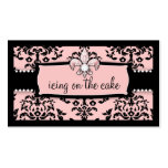 311 Icing on the Cake Fleur Di Lis Sweet Pink Business Cards