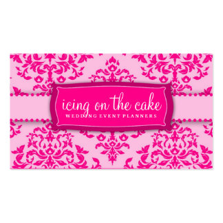 311 Icing on the Cake Pink Business Card Template