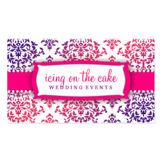 311 Icing on the Cake Pink Lavender Business Card Template