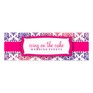 311 Icing on the Cake Pink Lavender Double-Sided Mini Business Cards (Pack Of 20)