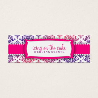 311 Icing on the Cake Pink Lavender Mini Business Card