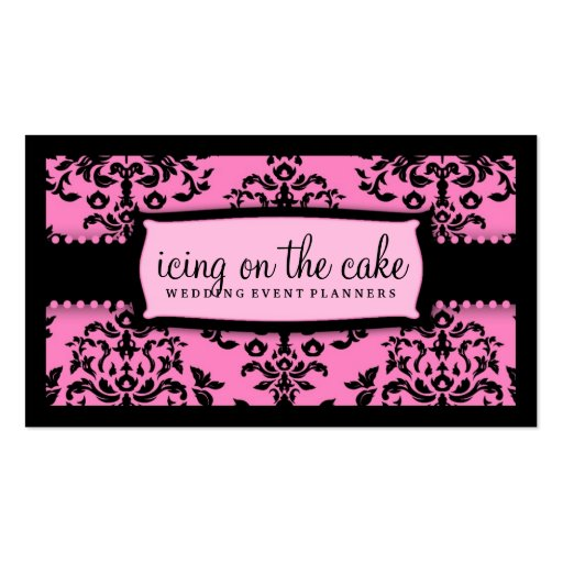 311 Icing on the Cake Too Pink Liquorice Business Card Templates