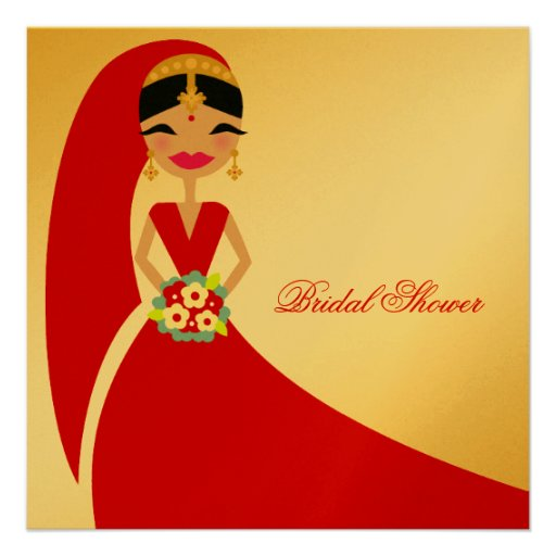 311-Indian Beauty | Bridal Shower Invites