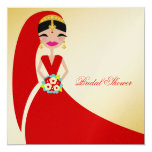 311-Indian Beauty | Bridal Shower 5.25x5.25 Square Paper Invitation Card