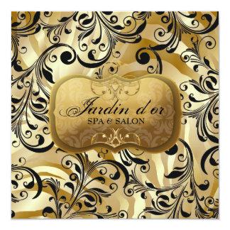 311-Jardin d'or with Zebra Gift Certificate 13 Cm X 13 Cm Square Invitation Card
