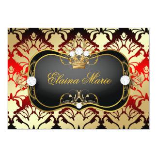 311 Jet Black Ciao Bella Cherry Sass Birthday 13 Cm X 18 Cm Invitation Card
