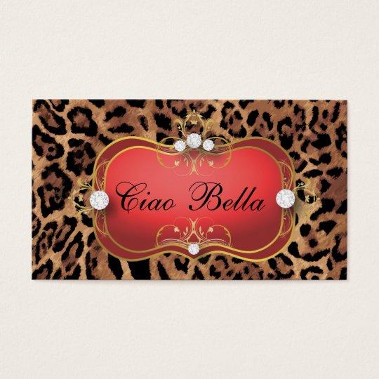311 Jet Red Ciao Bella Black Tan Leopard
